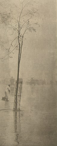 Spring Showers -The Street Cleaner. Alfred Stieglitz